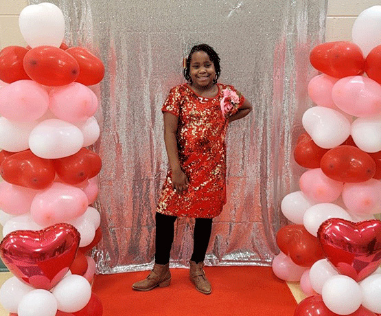 Children Receive VIP Reception at Valentine's Banquet